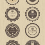 Retro badges — Stock Vector