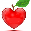 Heart apple — Stock Vector #25218145