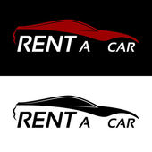 Rent a car logo — Stock Vector