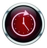 ícone de relógio vermelho do favo de mel — Vetorial Stock