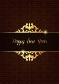 Creative new year celebrate card — Stock Vector