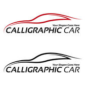 Calligraphic car logos — Stock Vector