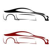 Calligraphic car logos — Stock Vector