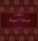 Purple royal vintage card — Stock Vector