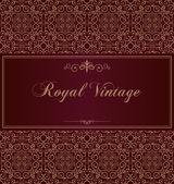 Purple royal vintage card — Stock Vector