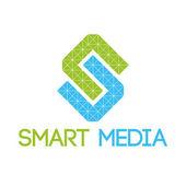 Smart media logo — Stock Vector