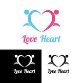 Sports heart — Stock Vector