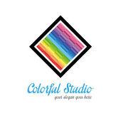 Kreativní studio logo šablona — Stock vektor