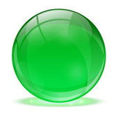 3D glass sphere — Stock Vector