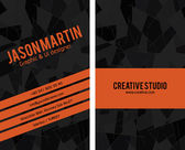 Creative business Card — Vettoriale Stock