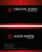 Creative business Card — Stock Vector