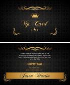 Creative vip card — Stock Vector