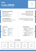 Creative blue resume — Stock Vector