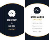 Real estate business card — Stock Vector