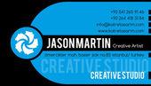 Creative blue business card — Stock Vector