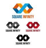 Square infinity — Stock Vector