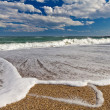 Sea surf panorama — Stock Photo