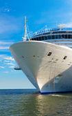 Výletní loď kotviště — Stock fotografie