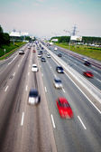 Traffic flow on the highway — Stock Photo