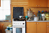 Old furniture in the kitchen — Stock Photo