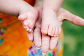 Little foots baby — Stock Photo