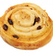 Bun with raisins — Stock Photo