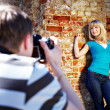 Romantic photo shoot with woman — Stock Photo