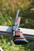 Shotgun with ammunition — Stock Photo