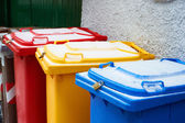 Colorful trash cans — Stock Photo
