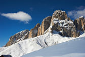 View of the Dolomites mountains — Stockfoto