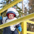 Little boy in winter suit — Stock Photo