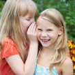 Girls tell each other secrets — Stock Photo