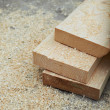Fresh wooden studs — Stock Photo