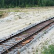 old railroad tracks — Stock Photo
