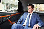 Business man in car — Stock Photo