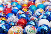 Sparkling Christmas balls — Stock Photo