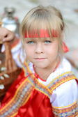 Little russian girl — Stock Photo