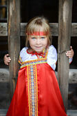 Russian girl in national costume — Stock Photo