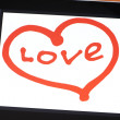 Foto de Stock  : Tablet with painted heart