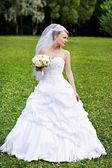Gelukkige bruid — Stockfoto