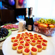 Stock Photo: Appetizers with caviar at wedding party