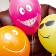 Stock Photo: Three fanny multicolored balloons