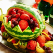 Stock Photo: Fruit platter with watermelon