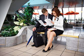 Business meeting men and women — Stock Photo