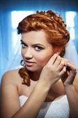 Bride clasps earrings — Photo