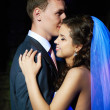 Romantic dance young bride and groom — Stock Photo