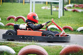 Children karting — Stock Photo