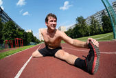 Athletic workout — Stock Photo