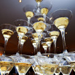 Pyramid of champagne glasses — Stock Photo #45427869