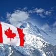 Canada flag and mountains — Stock Photo #32863515